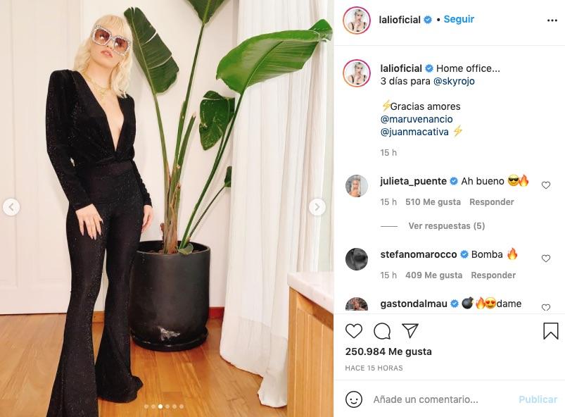 Lali Espósito habla de su participación en Sky rojo en instagram