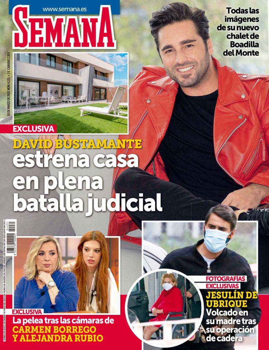 David Bustamante estrena casa portada Semana.