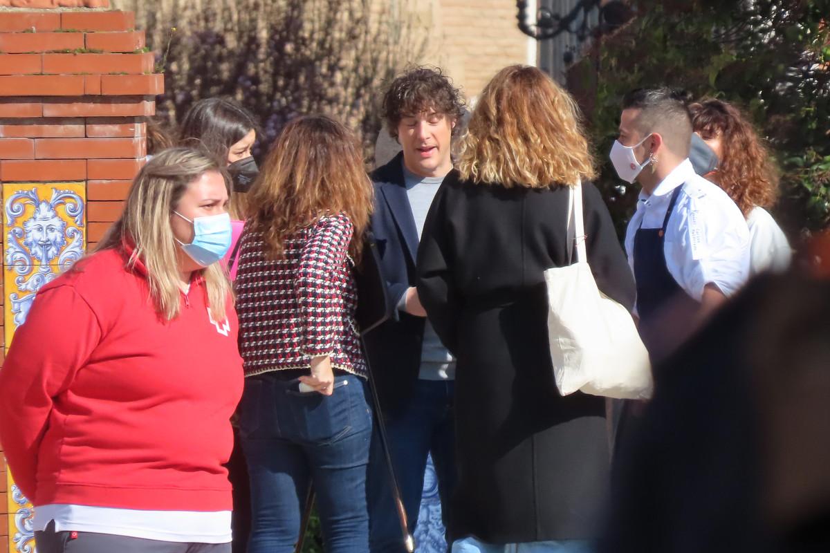Jordi Cruz en el rodaje de Masterchef en Talavera