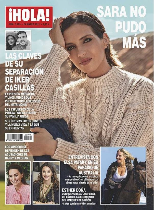Sara Carbonera portada de Hola.