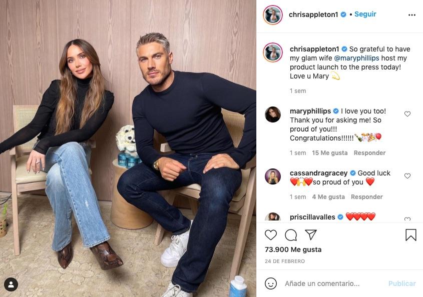 Chris y su mujer en Instagram