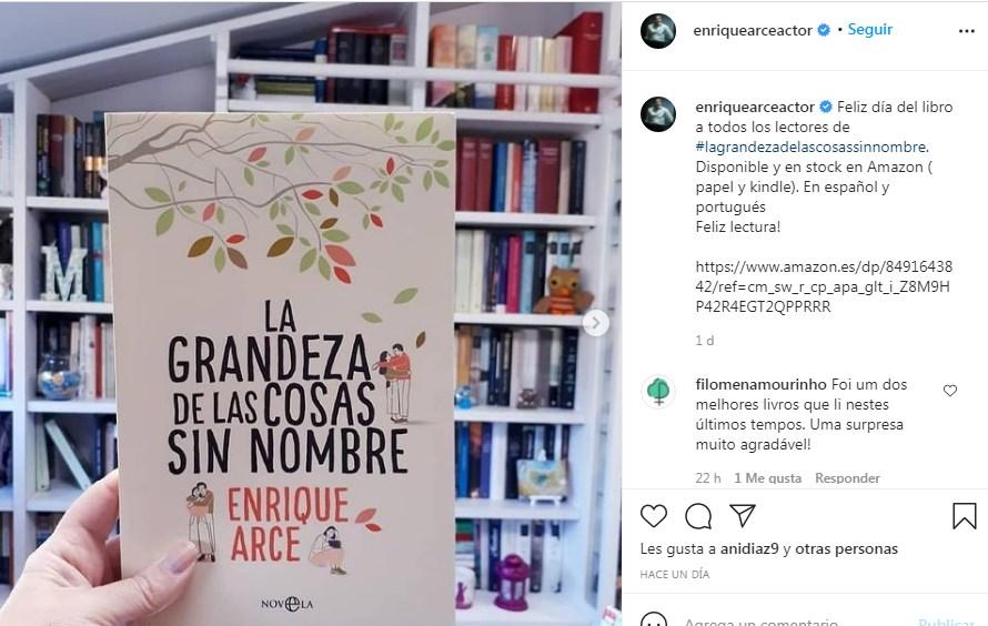 Enrique Arce presenta libro La Grandeza de las Cosas sin Nombre
