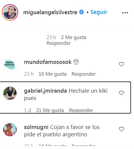 Fans piden a Lali Espósito que lo haga con Miguel Ángel Silvestre por Argentina