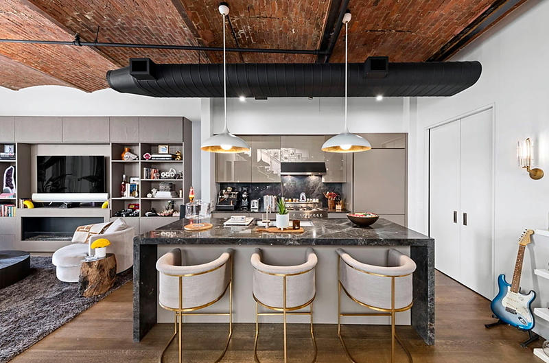 Fotos de la cocina en el apartamento de Bella Hadid en Nueva York