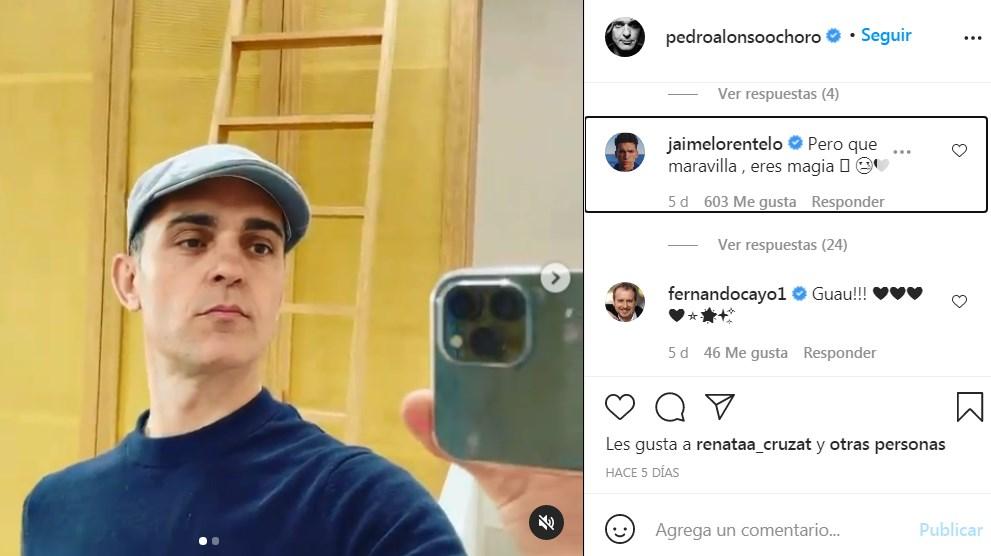 Jaime Lorente responde a Pedro Alonso en su publicación de Instagram