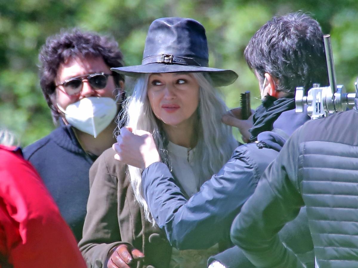 Cambio de look de Monica Bellucci en su nueva película.