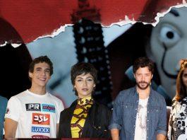 Te mostramos la cara oculta de los protas de La casa de papel, entre ellos Jaime Lorente, Miguel Herrán, Úrsula Corberó, Álvaro Morte y Alba Flores, todos en la foto