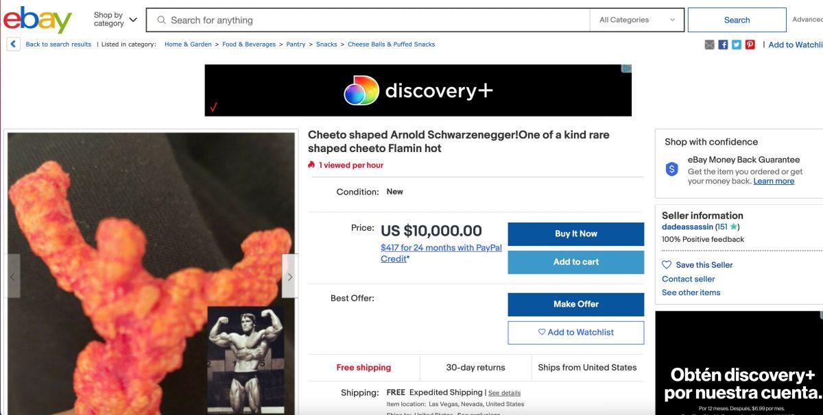 Arnold Schwarzenegger, la más cara de las cheetoesculturas