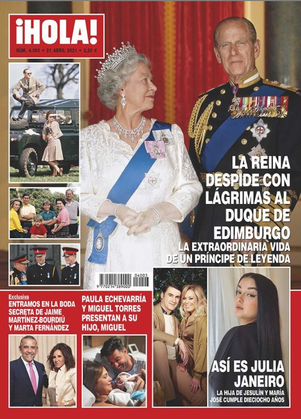 La reina Isabel II en portada