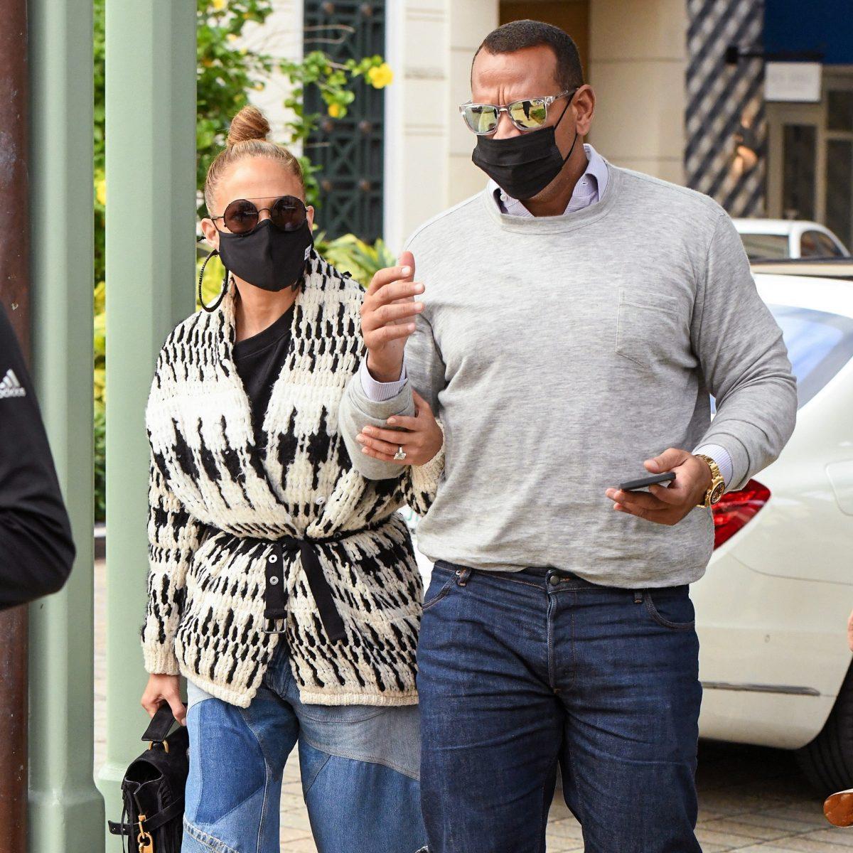 Jennifer Lopez y A Rod juntos