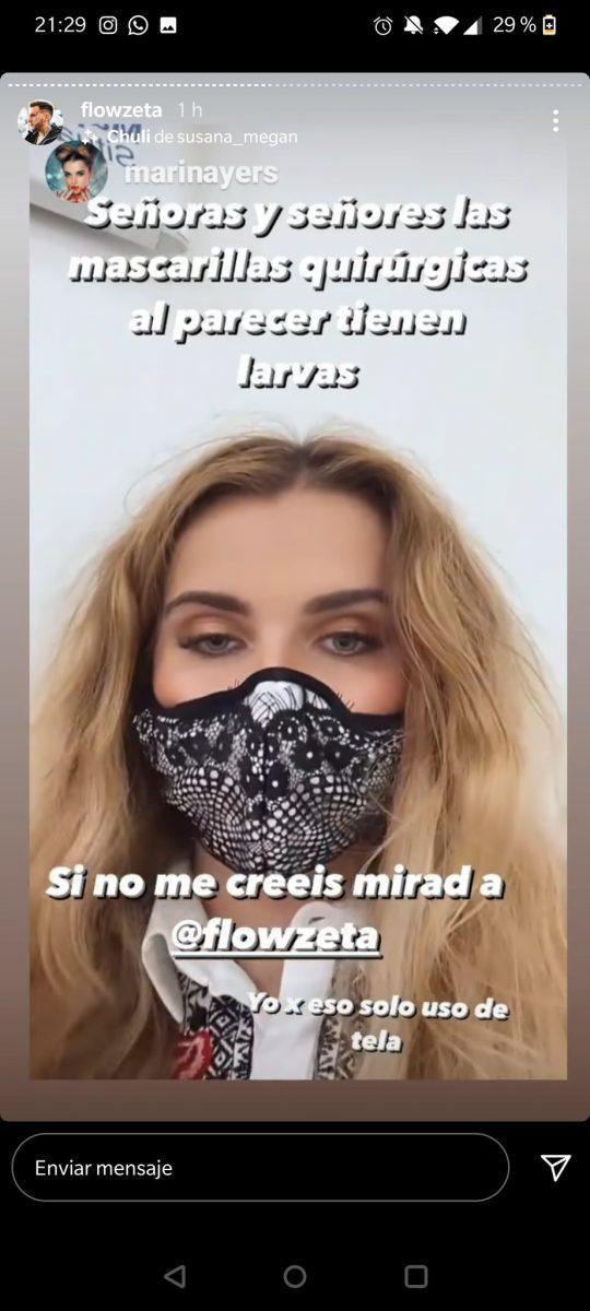 Post de instagram en el que se habla de las larvas de Marina Yers