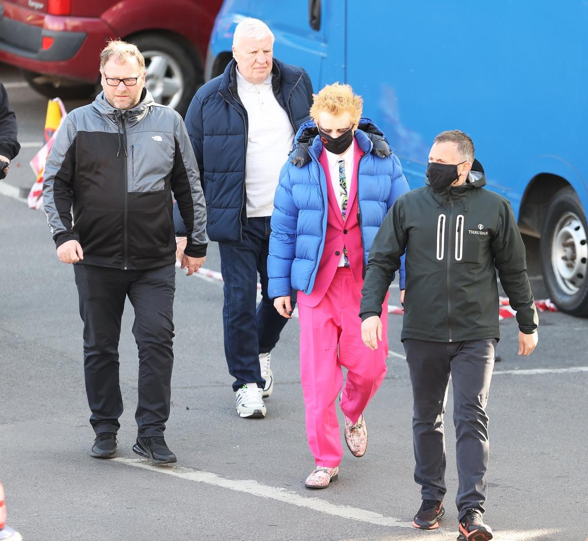 El equípo técnico mientras se rueda el último videoclip de Ed Sheeran, con el cantante en el centro