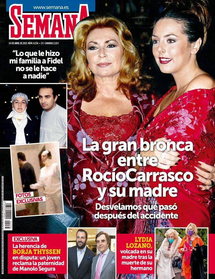Rocio Carrasco portada de Semana,