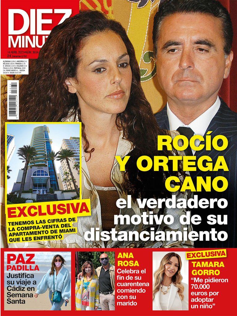 Rocio Carrasco y Ortega Cano portada de Diez Minutos