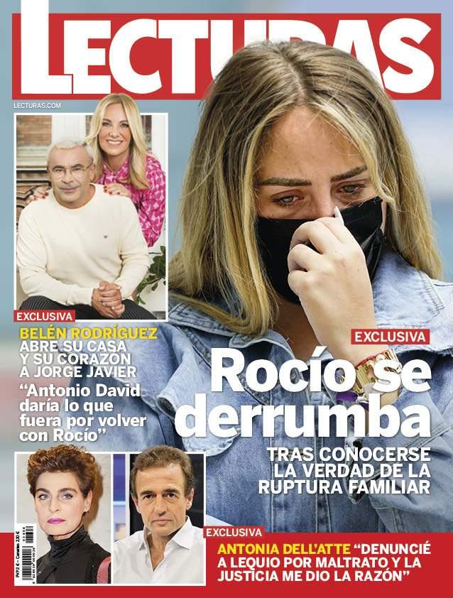 Rocío Flores abatida en Lecturas.