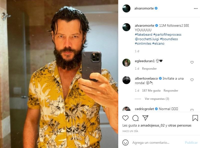 Álvaro Morte alcanza 11 millones de seguidores en IG