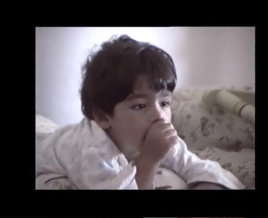 Omar Ayuso de pequeño