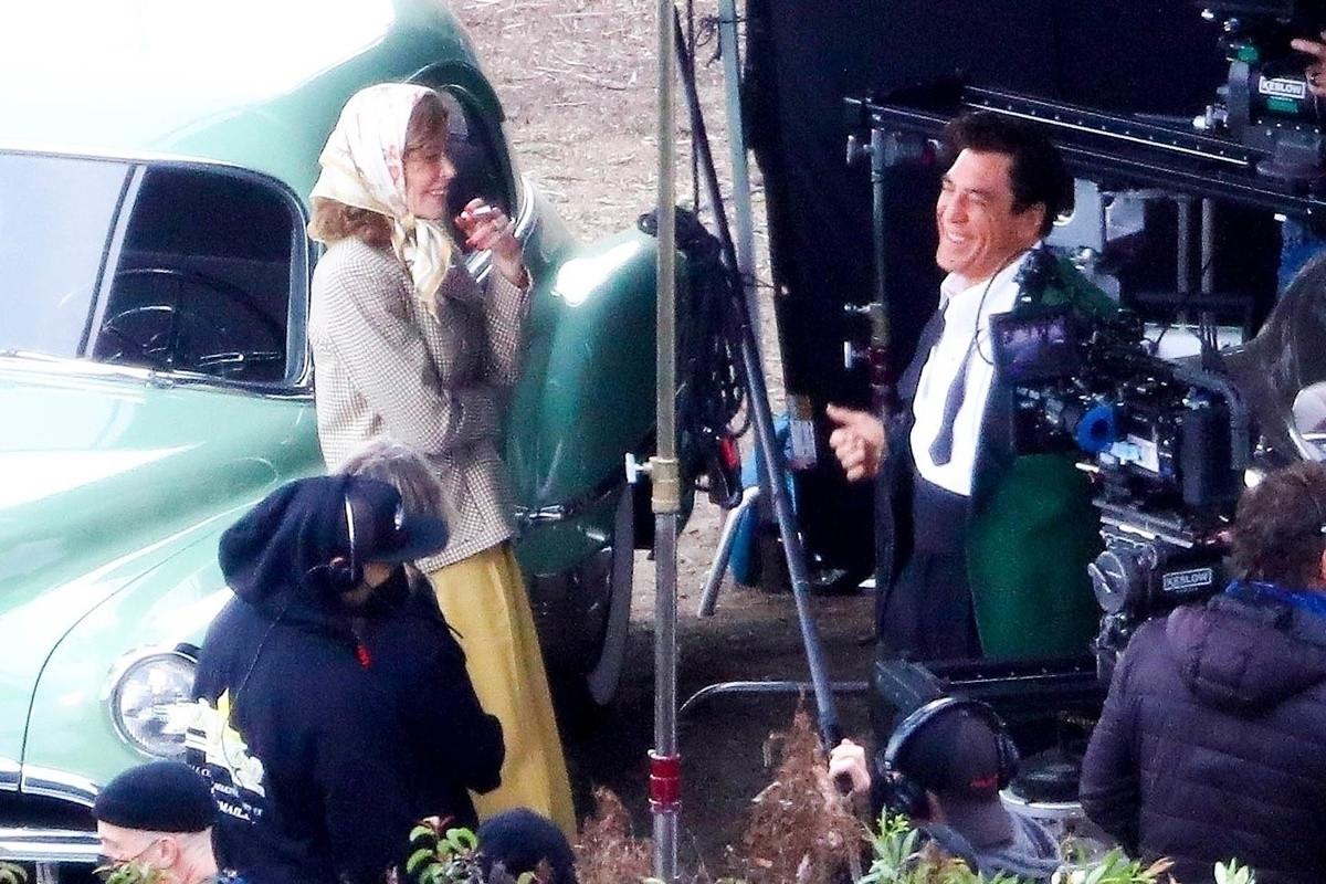 Todas las fotos del beso de Nicole Kidman y Javier Bardem