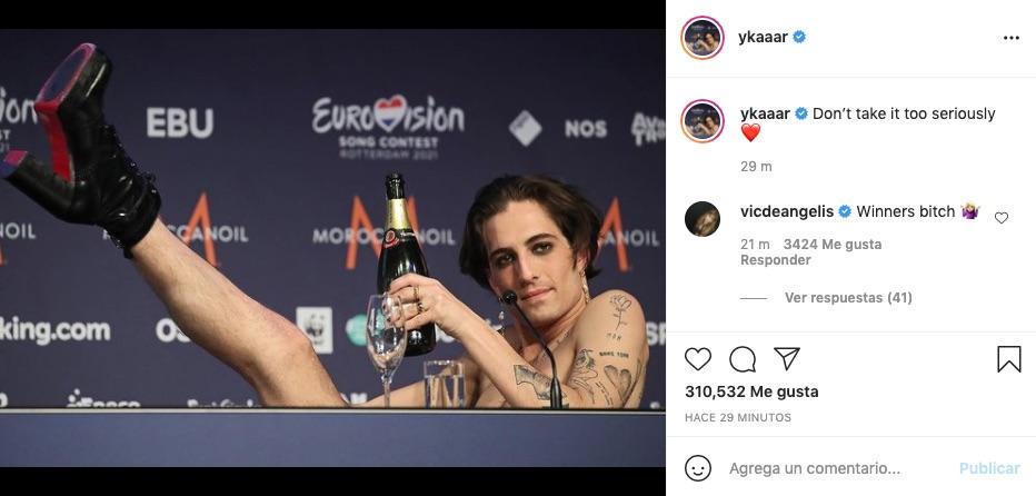 Post de Damiano David en Instagram