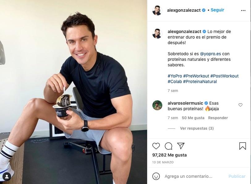 Álex González en Instagram