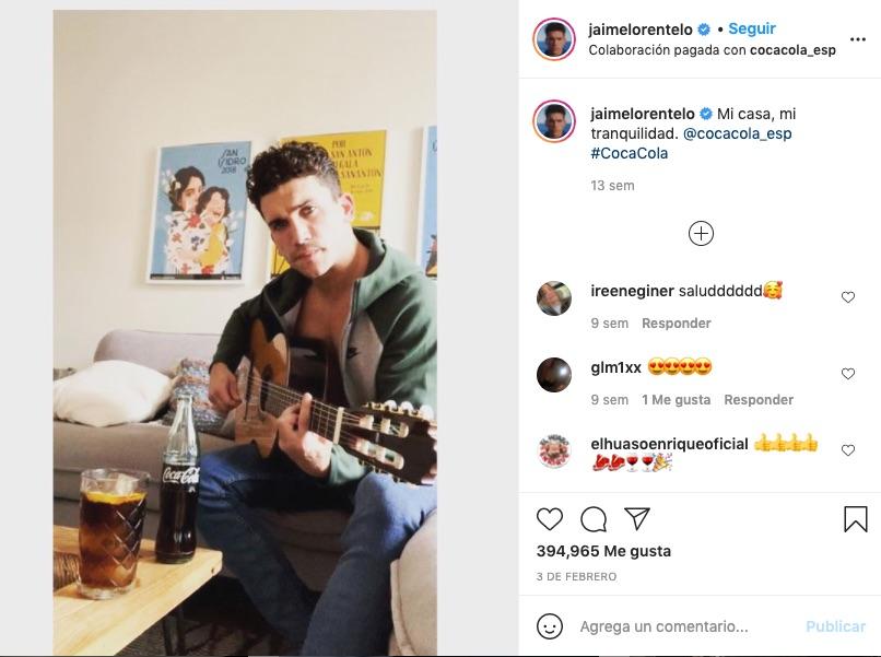 Post de Jaime Lorente en Instagram