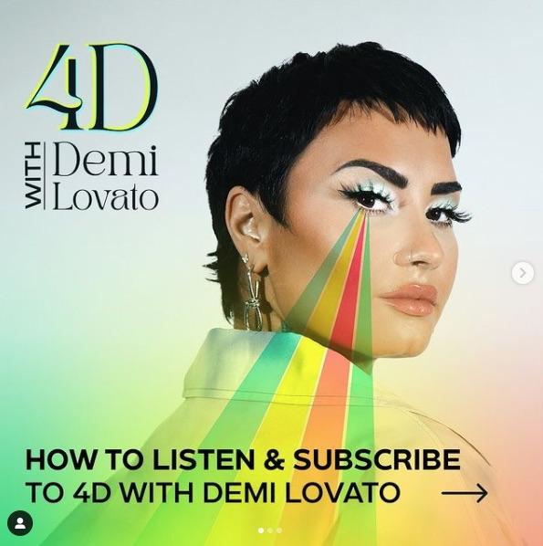 Post del podcast de Demi Lovato
