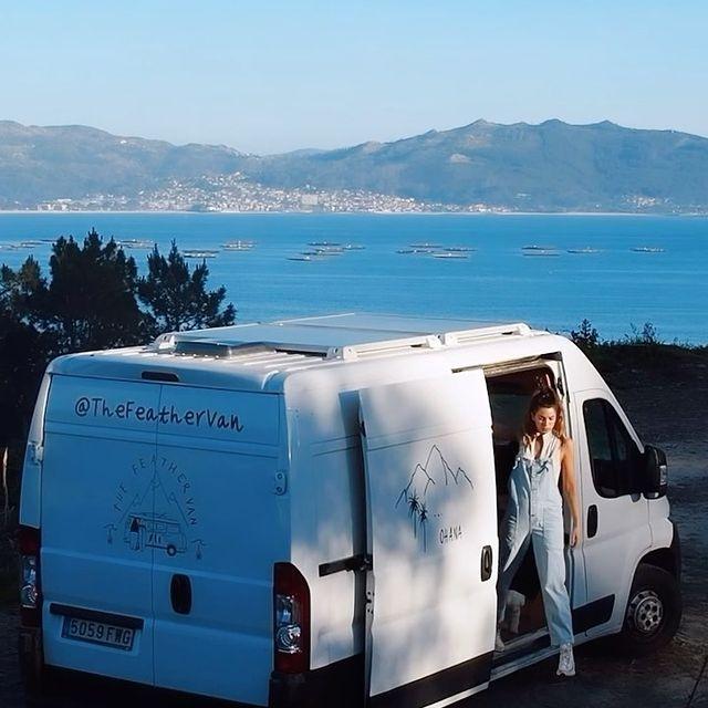 Dulceida de viaje en caravana