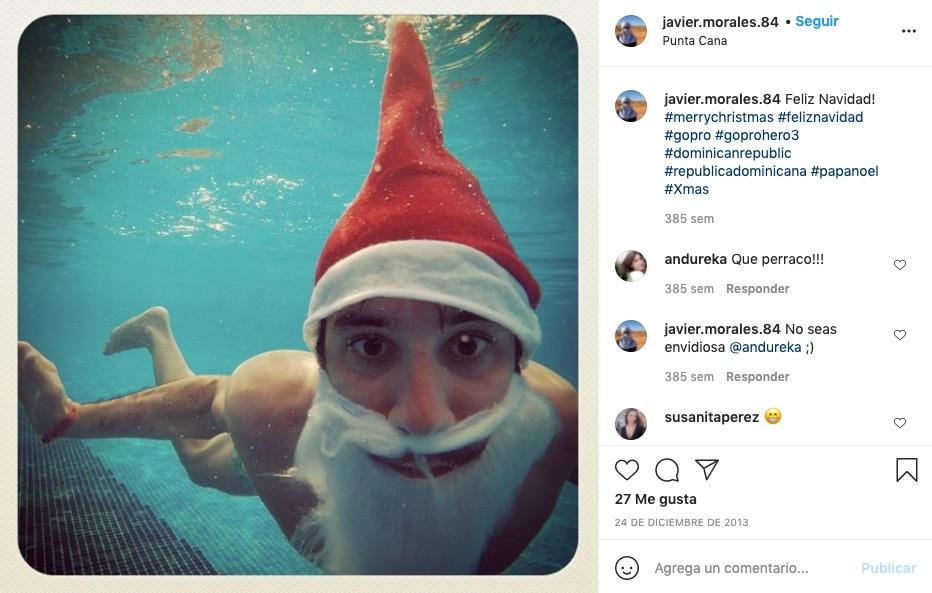 El hermano de Arancha Morales buceando en Navidad