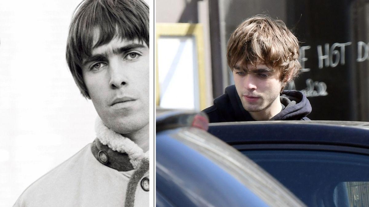 Liam Gallagher a la izquierda y el hijo de Liam Gallagher a la derecha