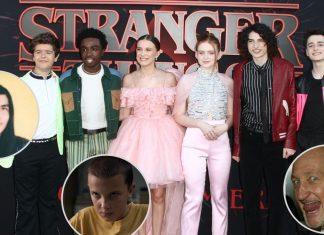 Algunos de los nuevos personajes de Stranger Things 4 junto al elenco principal