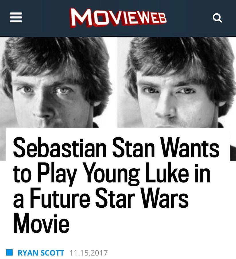 Sebastian Stan clavadito a Luke Skywalker