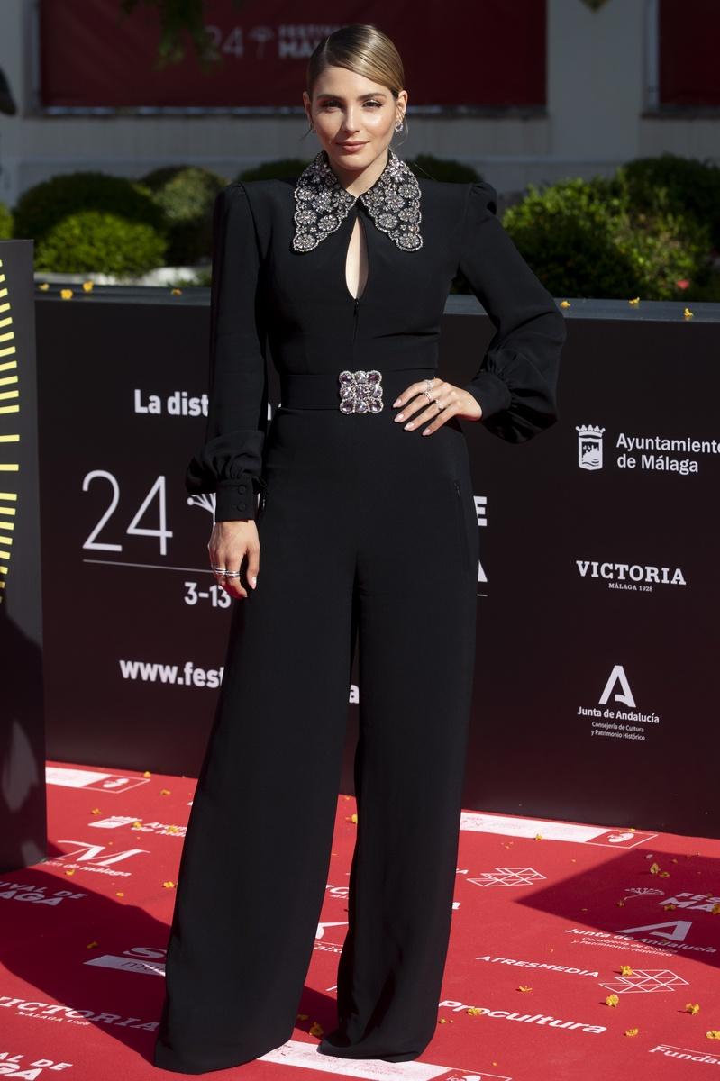 Andrea Duro en la alfombra roja del 24 festival de cine de málaga
