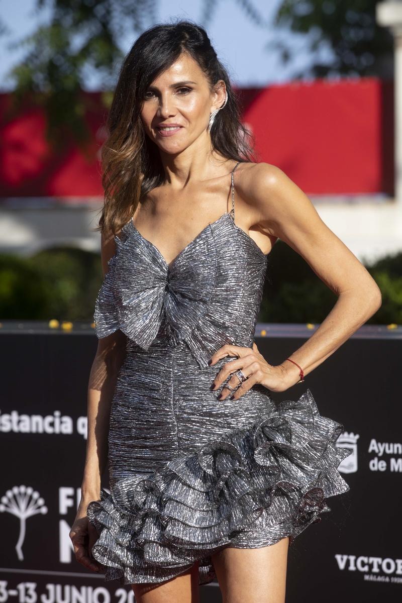 Goya Toledo en la alfombra roja del 24 festival de cine de Málaga