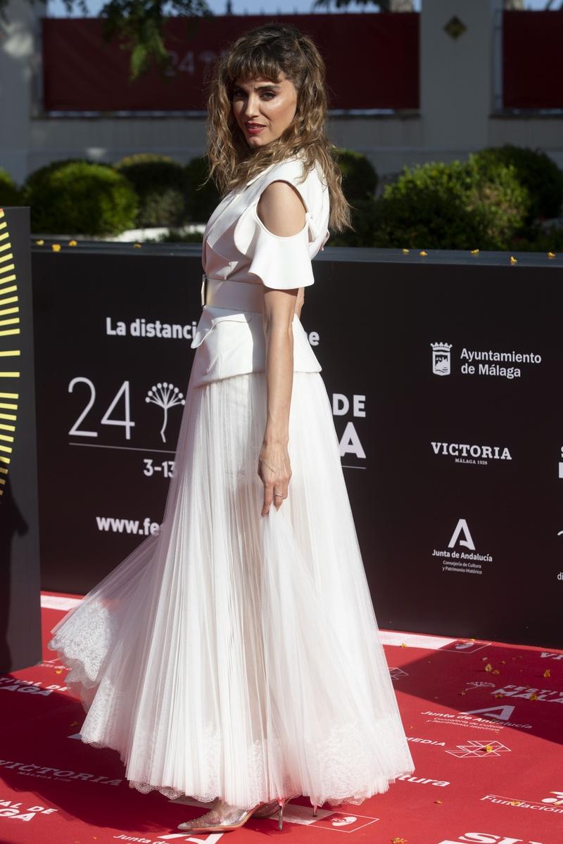 Irene Arcos en la alfombra roja del 24 festival de cine de Málaga