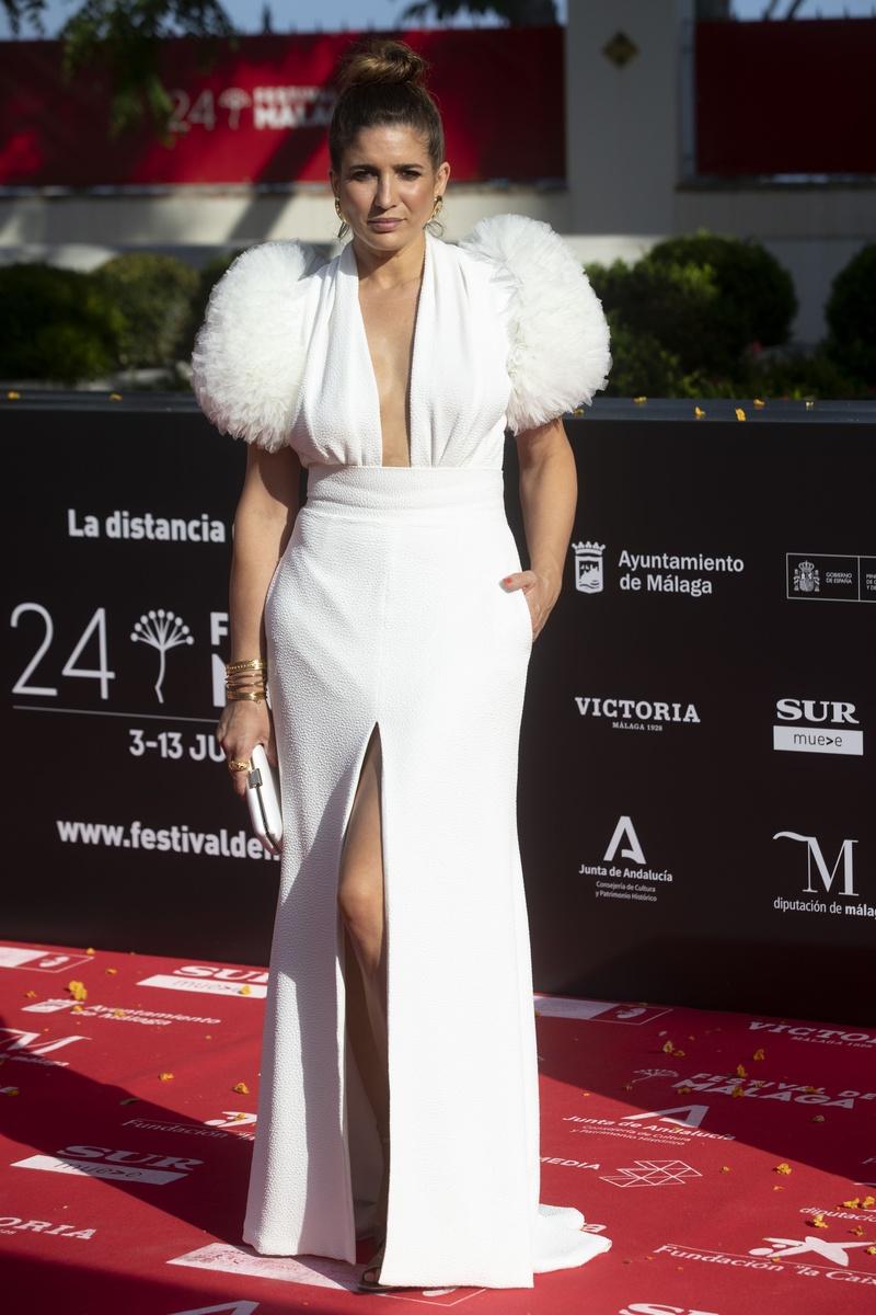 Lucía Jiménez en la alfombra roja del 24 festival de cine de Málaga