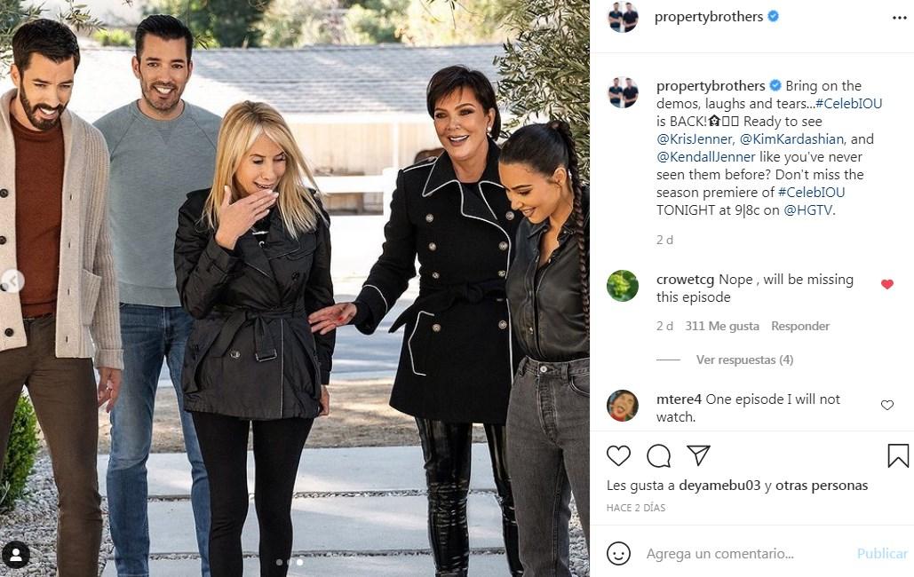Kim Kardashian y Kendall Jenner en Hermanos a la Obra fotos del programa remodelando con celebridades