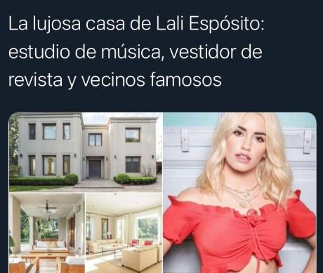 La lujosa casa de Lali Espósito el fakenews que la artista desmintió furiosa