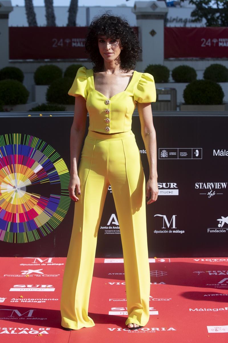Blanca Romero en la alfombra roja del 24 festival de cine de málaga
