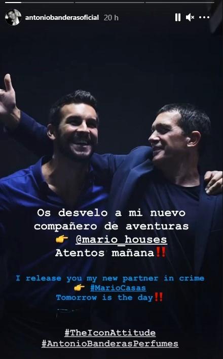 Antonio Banderas y Mario Casas juntos