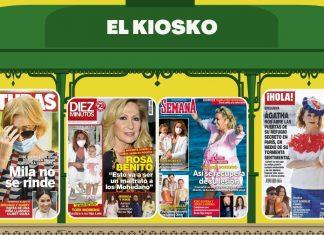 Los besos de Álex González y María Pedraza en portada
