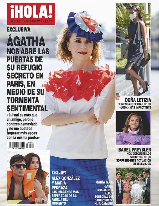 Besos de Álex González y María Pedraza portada