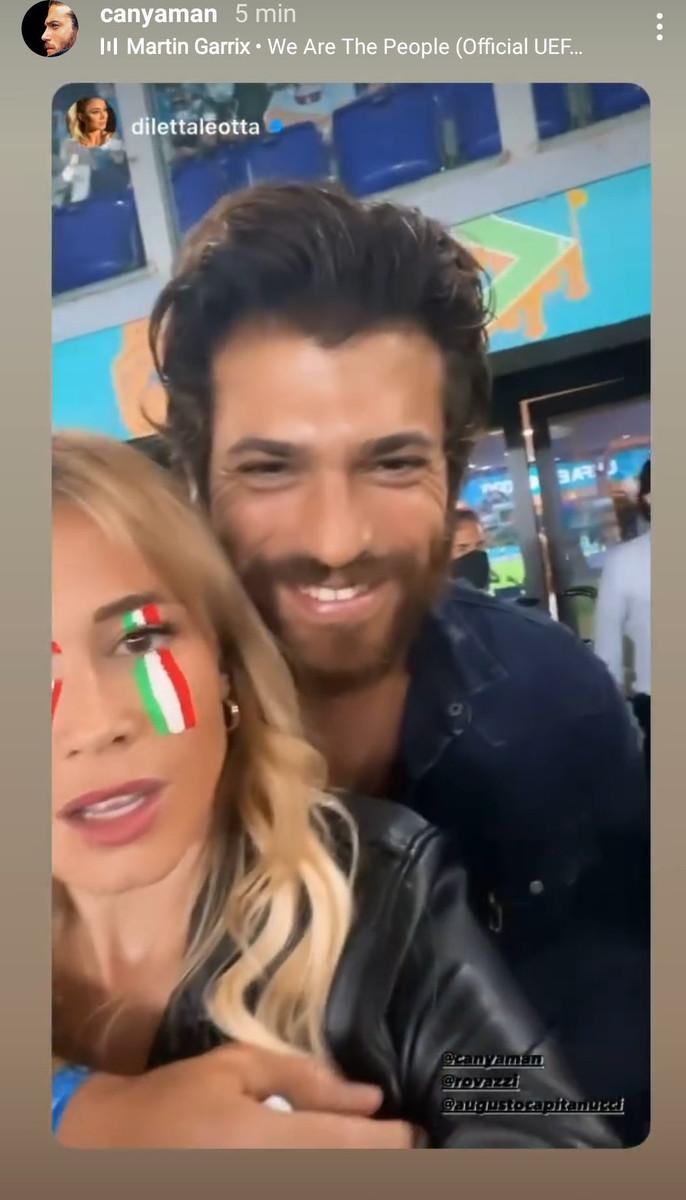 Diletta Leotta y Can Yaman en la Eurocopa de fútbol