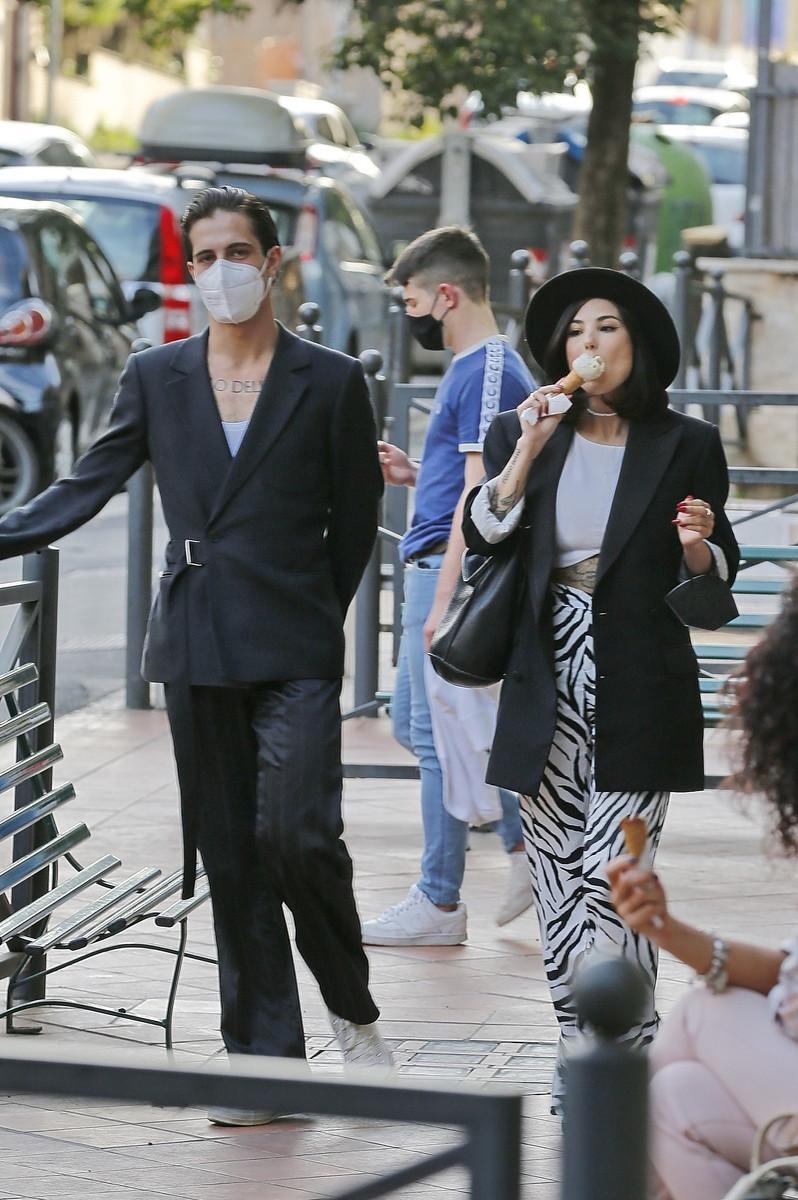 El estilado de Damiano David y su novia Giorgia