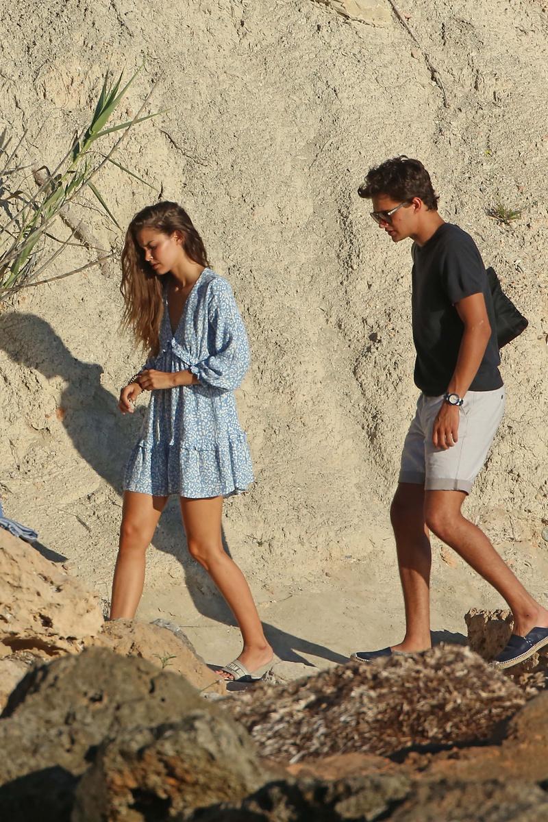 Pepe Barroso y su nueva novia, Gara Arias, de camino a la sesión de fotos