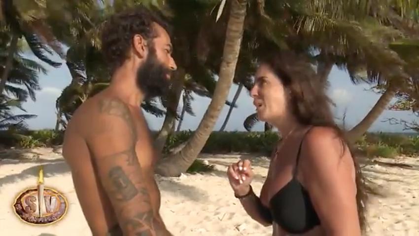 Omar y Anabel en la isla