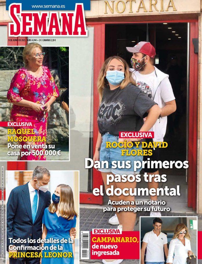 Rocio y David Flores en portada