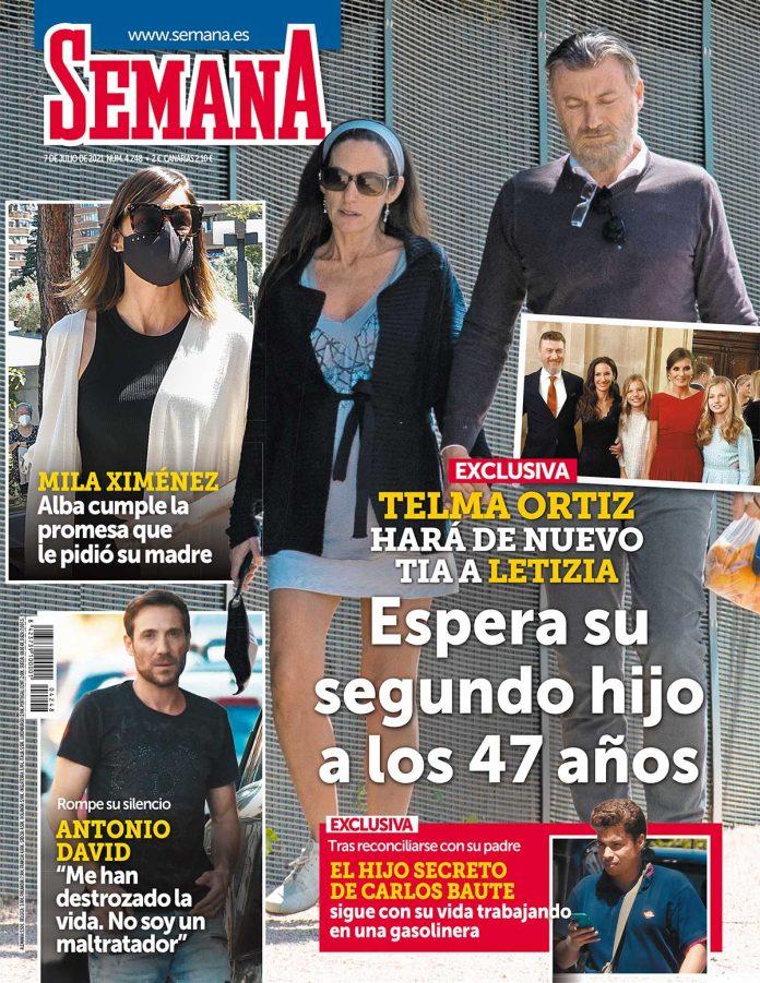 Telma Ortiz embarazada.