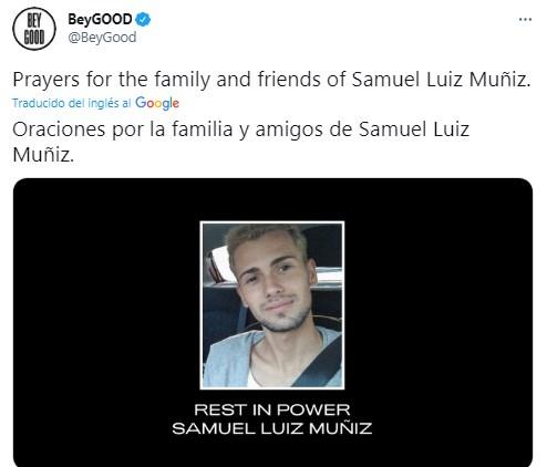 Beyoncé se pronuncia por Samuel Muñiz asesinado por homofobia y se vuelve tendencia