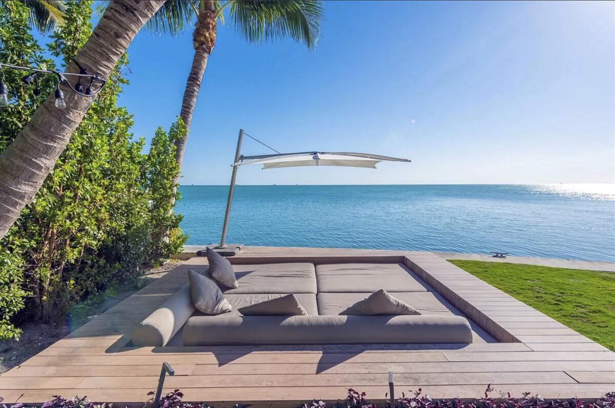 Exteriores de la mansión alquilada por Lionel Messi en Miami