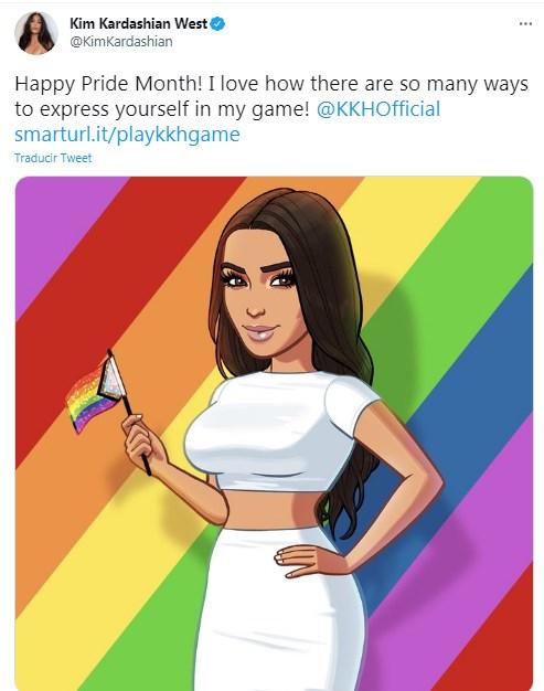 Famosas apoyaron el mes del orgullo Kim Kardashian apoyó mes del orgullo LGBT desde sus redes sociales